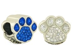 Crystal Go Lions Paw Bead