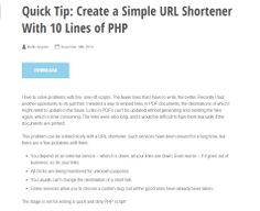 Quick Tip: Create a Simple URL Shortener With 10 Lines of PHP