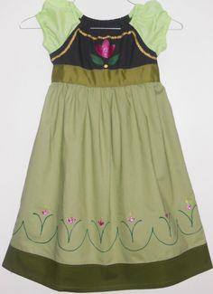 Custom Handmade Young Anna Inspired Dress - Frozen