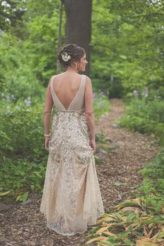 Garden bridal photos.  Love the back of her dress, truly stunning. www.greenseedphotography.com