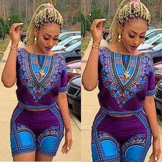 Dashiki Shorts ~DKK ~ Latest African fashion, Ankara, kitenge, African women dresses, African prints, African men's fashion, Nigerian style, Ghanaian fashion.