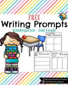 FREE Writing Prompts by Planning Playtime - Narrative, Informative and Opinion Prompts.