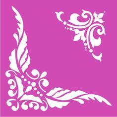 Servilletas y algo más - Stencil Stencil Patterns, Stencil Designs, Stencil Diy, Stencil Painting, Painting Templates, Arts And Crafts, Paper Crafts, Embroidered Towels, Typographic Logo