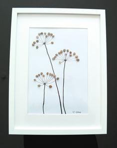 Weiteres - Steinbild - Kieselstein - Blumen - ein Designerstück von Handmadefactory bei DaWanda