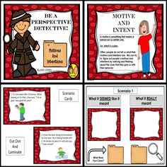 PERSPECTIVE TAKING: Motive and intent are important concepts for children to understand in order to navigate their social world. https://www.teacherspayteachers.com/Product/PERSPECTIVE-TAKING-Motive-and-Intent-619995