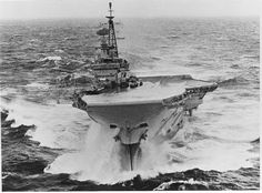 Post with 794 views. HMS Hermes in heavy seas Royal Navy Aircraft Carriers, Navy Carriers, Naval History, Military History, British Aircraft Carrier, Navy Day, Capital Ship, Royal Marines, Flight Deck