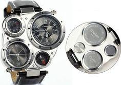 Amazon.co.jp: oulm 腕時計 各3色 (ブラック): 腕時計通販