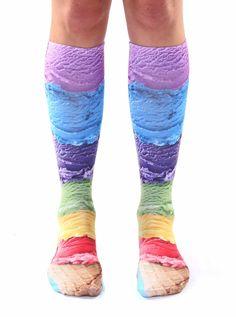 Ice Cream Knee High Socks