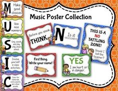 This is the cutest music class decor set!  I can't wait to decorate my elementary music classroom with this!  #elmused #musictpt #pitchpublications