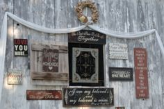 The outside of the barn at the alter! Rustic wedding, country wedding, barn wedding.