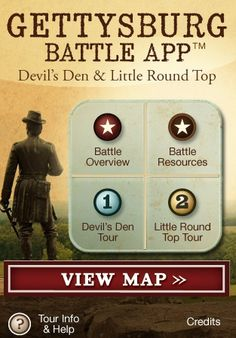 Gettysburg Virtual Tour Designed for visitors to Gettysburg, the Gettysburg Battle app can be used as a virtual tour of the Civil War battlefield. It includes video, audio, and an abundance of information on notable sites at Gettysburg. Try out these other virtual field trips: Monet paintings, art museum, panoramic views,  Check out my bundle of Common Core aligned Social Studies iPad lesson plans!  *this app is made for an iPhone but works great on an iPad or iPod Touch