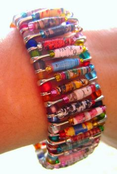 . . . . . How to Recycle: Paper Bead Crafts