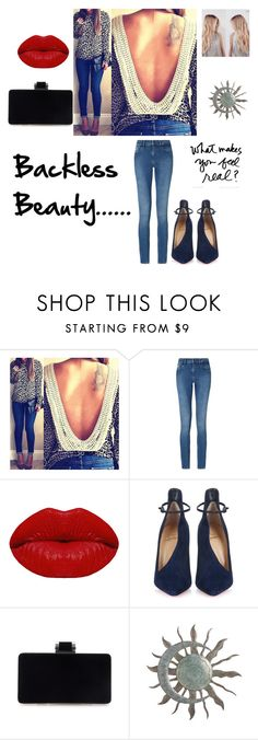 """""""Backless Beauty"""" by kotnourka ❤ liked on Polyvore featuring Calvin Klein, Winky Lux and Christian Louboutin"""
