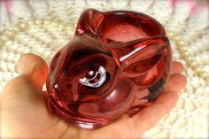 Pink Clear Glass Bunny Rabbit Votive Candle by TinyandBeautiful