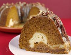 Pumpkin Cream Cheese Maple Glazed Bundt Cake - Gretchen's Bakery