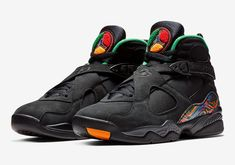 f7232ff4ae2c81 New Men s Air Jordan Retro 8 TINKER Shoes (305381-004) Black Light