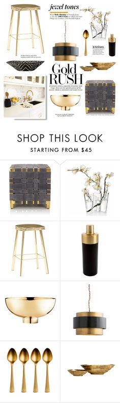"""""""Gold Rush"""" by barngirl ❤ liked on Polyvore featuring interior, interiors, interior design, home, home decor, interior decorating, Arteriors, iittala, Cambridge Silversmiths and Georg Jensen"""
