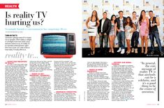 Is reality TV hurting us? Argument or Persuasive essay topic...perhaps with different article or having students locate their own.
