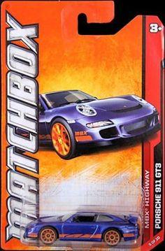 Matchbox 2012-85 MBX Highway 2008 Porsche 911 GT3 BLUE 1:64 Scale by Mattel. $5.99