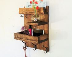 SALE Entryway Mail U0026 Key Reclaimed Wood Shelf Organizer Storage And  Organization Mail And