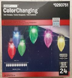 Gemmy Color Changing Lightshow Christmas Lights ** This is an Amazon Affiliate link. Click on the image for additional details.