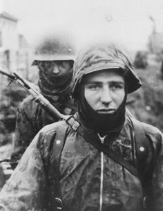 German soldiers on the Eastern Front.