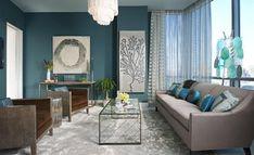 20 gam màu xanh mát dịu cho thiết kế nội thất phòng khách