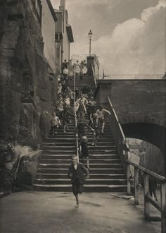 Fairy Lane steps 1910. photographer Harold CAZNEAUX