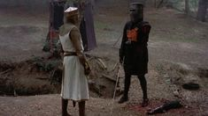 """MONTY PYTHON AND THE HOLY GRAIL -- """"tis but a scratch""""  hahahaha"""