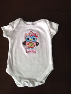 Personalized Girly Owl with Bow by TheBlueSage on Etsy
