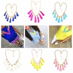 Lucky Seven Tassel Necklaces