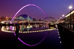 Newcastle And Gateshead Quayside At Night