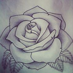 Rose tattoo design by Alyx Wilson | Society6