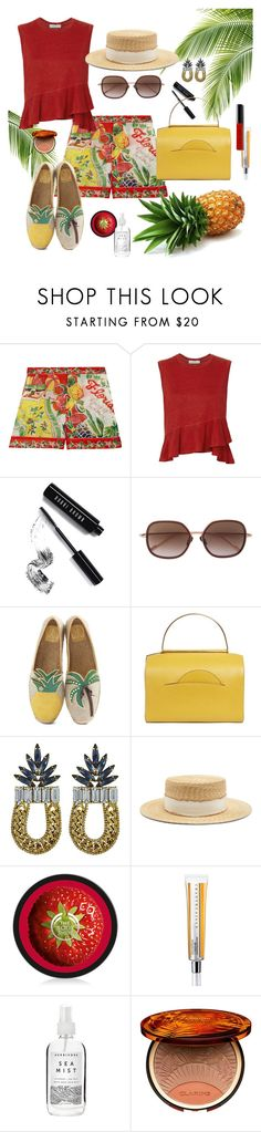 """""""Tropical Vacation"""" by brigitta-ruth on Polyvore featuring Anna Sui, A.L.C., Bobbi Brown Cosmetics, Courrèges, Tory Burch, Roksanda, DANNIJO, Filù Hats, Chantecaille and Herbivore"""
