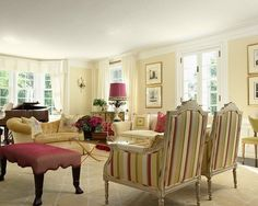 Traditional Living Room Colours benjamin moore philadelphia cream is the common thread throughout