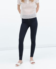 HIGH RISE DENIM JEGGINGS-High Waisted-Jeans-WOMAN | ZARA United States
