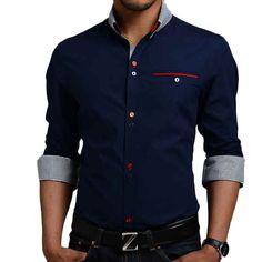 hawaiian shirt roupas masculina slim fit camisas masculina social chemise homme long sleeve mens dress shirts camisa xadrez M102