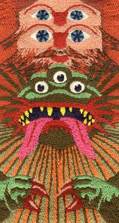 Almas Pieters - Godzillaman (détail)