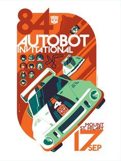 Transformers - Autobot Iinvitational by Tom Whalen