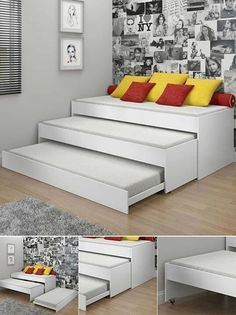 Triple pull out bed… never thought of it..