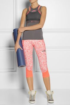 Adidas by Stella McCartney pants, shoes and yoga mat.
