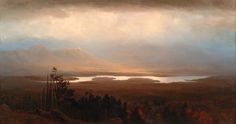 Mountain view of the Saranac River (1868) - by Homer Dodge Martin