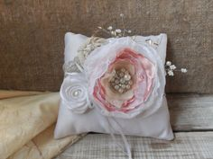 Wedding ring pillows in soft tones Ring Bearer by SweetsOfLife4