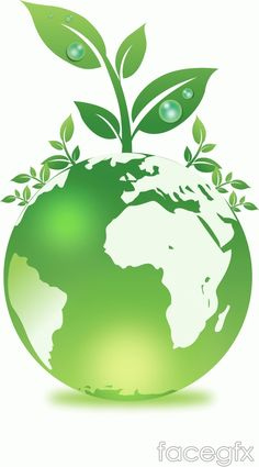 A green earth environmental protection and plant vector Go Green Posters, Save Earth Drawing, Save Earth Posters, Art Vert, Earth Logo, Earth Drawings, Save Mother Earth, Poster Background Design, Plant Vector