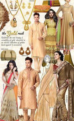 #Gold #Rush #Indianwear #Sarees #Salwars #Anarkalis