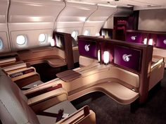 First-class seats on Qatar Airways' new A380.