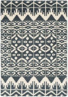 Traditional Kenya Rug, hand knotted from wool pile. Origin: India