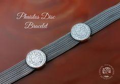 Phaistos Disc byzantine chain silver bracelet, antique bracelet, Phaistos Disc bracelet, byzantine bracelet, greek bracelet, antique jewelry by GreekGoddessJewelry on Etsy