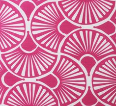 fantuti hot pink on tint from victoria larson #textiles #fabric #linen #cotton #pink