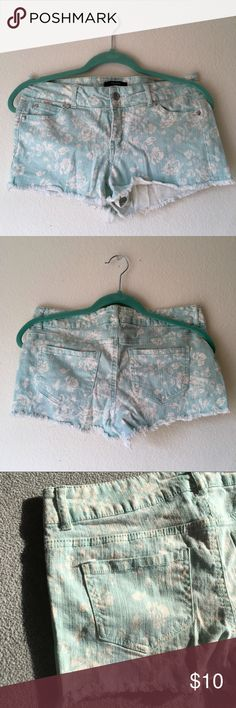 I just added this listing on Poshmark: Floral Print Teal Seafoam Denim Shorts. #shopmycloset #poshmark #fashion #shopping #style #forsale #Forever 21 #Pants